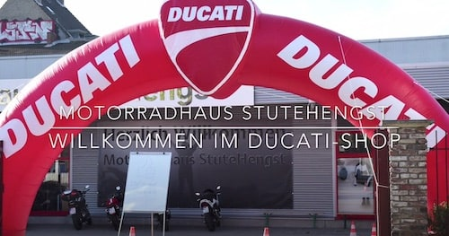 Eröfffnungsfeier Ducati-Shop